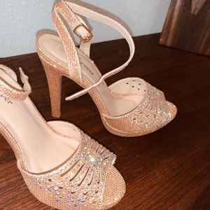 Rose Gold heels - never before worn